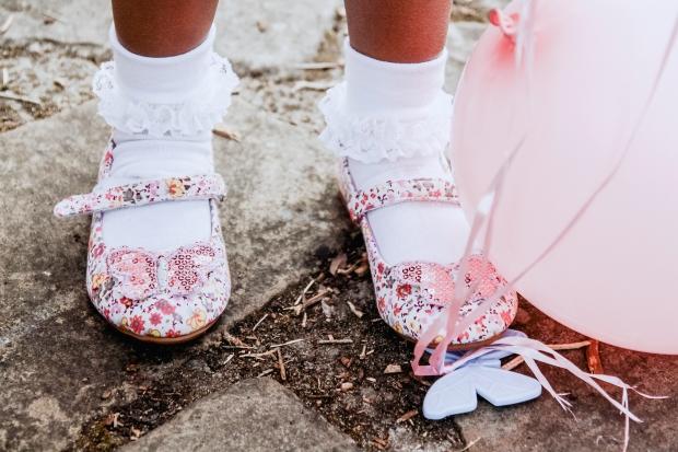 Shoe zone girls buttefly shoes